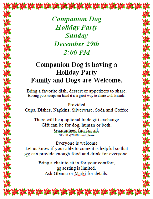 Holiday 2013 Flyer