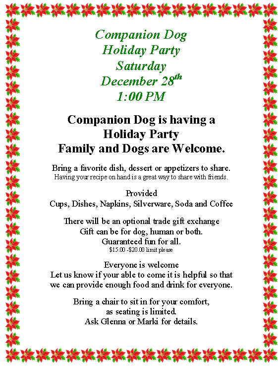 Holiday 2014 Flyer